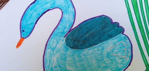 """El Cisne, del taller """"Canciones de Cuento"""""""
